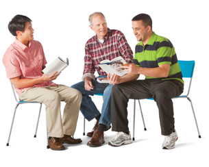 group-book-men-sitting